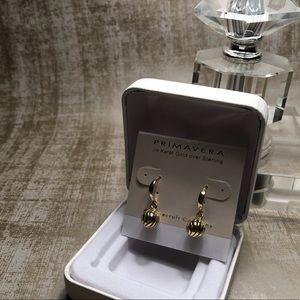 24k gold over sterling earrings.